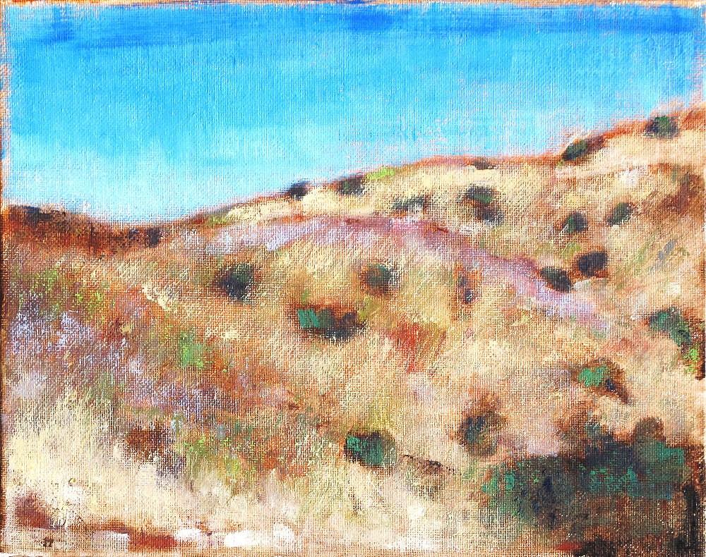 """""""Landscape in El Cajon"""" original fine art by Kevin Inman"""
