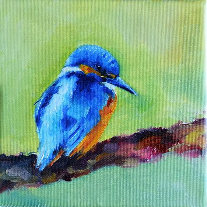 """""""Kingfisher"""" original fine art by Stefan Peters"""