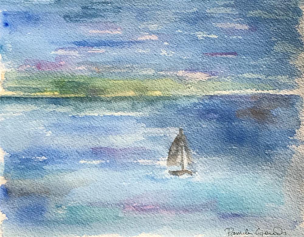 """Redondo Beach, CA at Sunset"" original fine art by Pamela Gorecki"