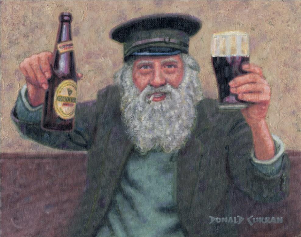 """Have a Guinness"" original fine art by Donald Curran"