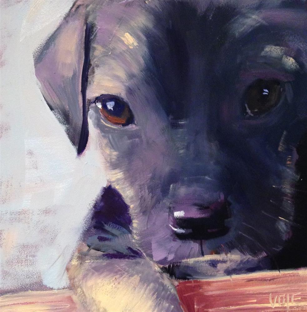 """#68 Puppy Love"" original fine art by Patty Voje"