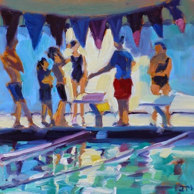 """""""Swim Team No. 1"""" original fine art by Jessica Miller"""