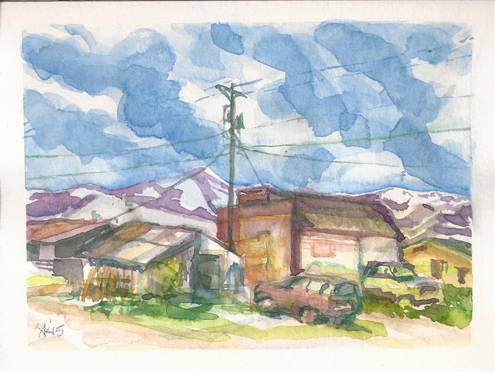 """Downtown, Westcliffe, CO"" original fine art by Jean Krueger"