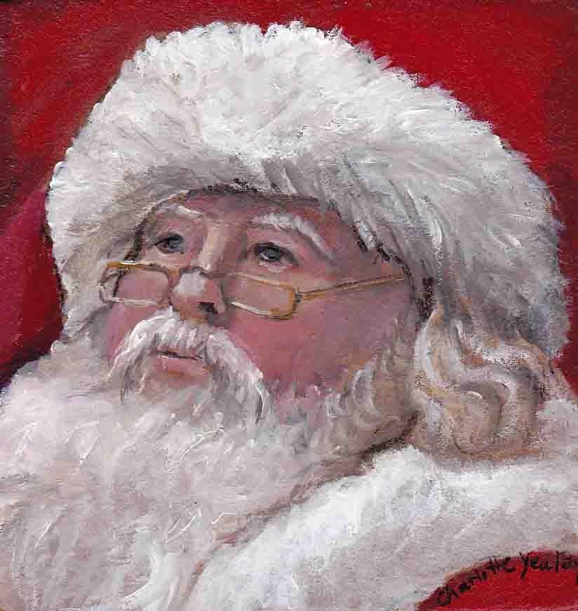 """Old Saint Nick"" original fine art by Charlotte Yealey"