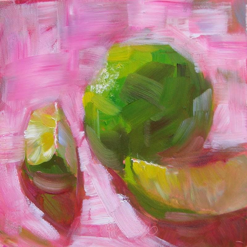 """""""Hot Pink 143"""" original fine art by Laura  Buxo"""