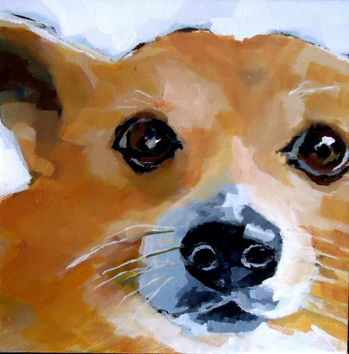 """Marmalade"" original fine art by Laurie Mueller"