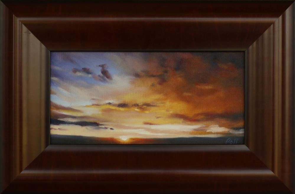 """Sunset Drama"" original fine art by Pamela Poll"