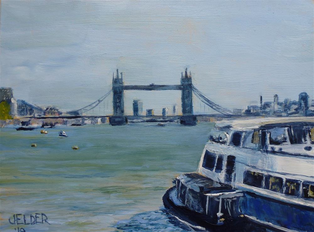 """London No. 20"" original fine art by Judith Elder"