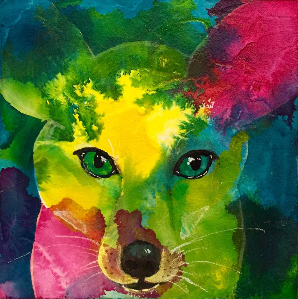 """""""#53 Loyal Friend"""" original fine art by Silke Powers"""