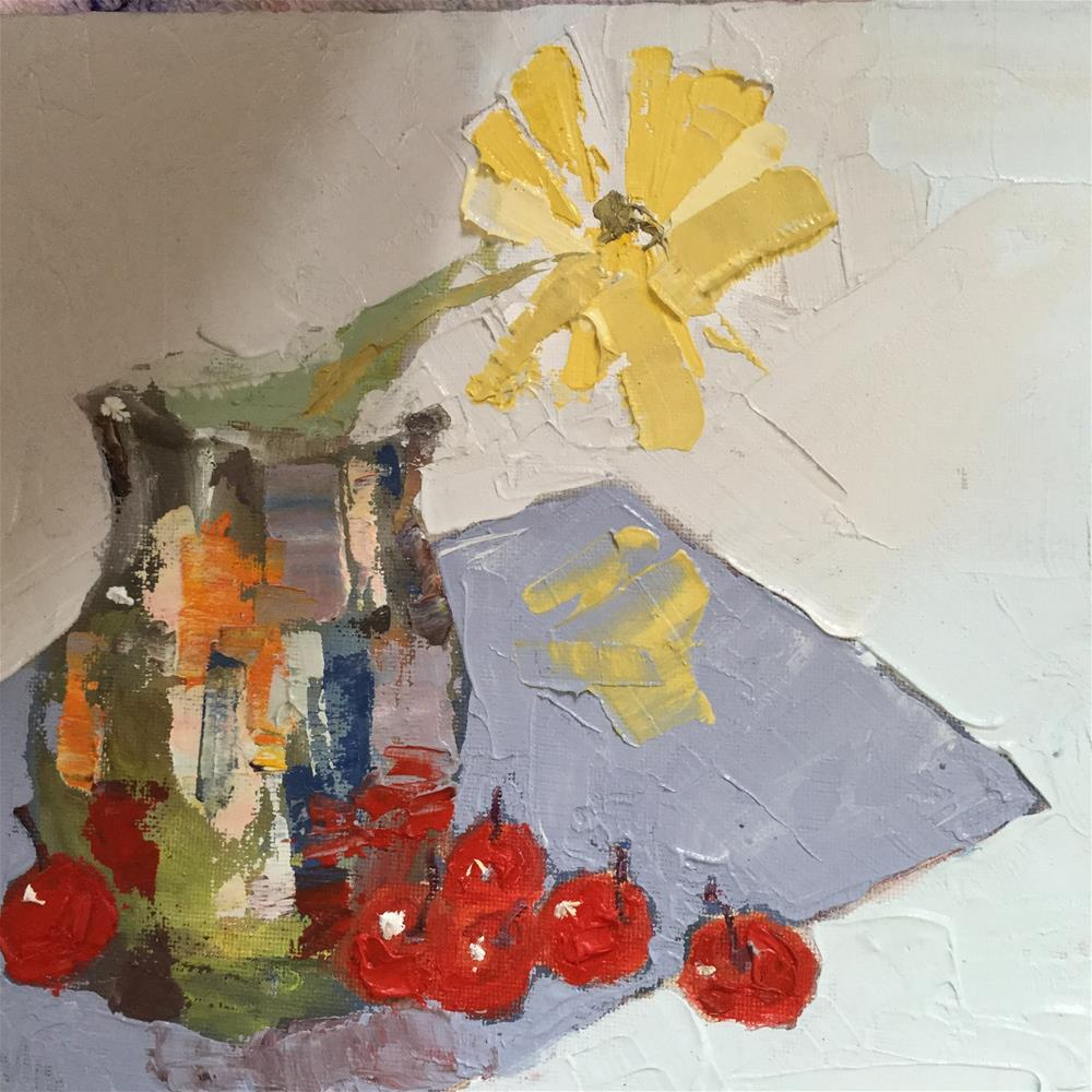 """upon further reflection"" original fine art by pamela kish"