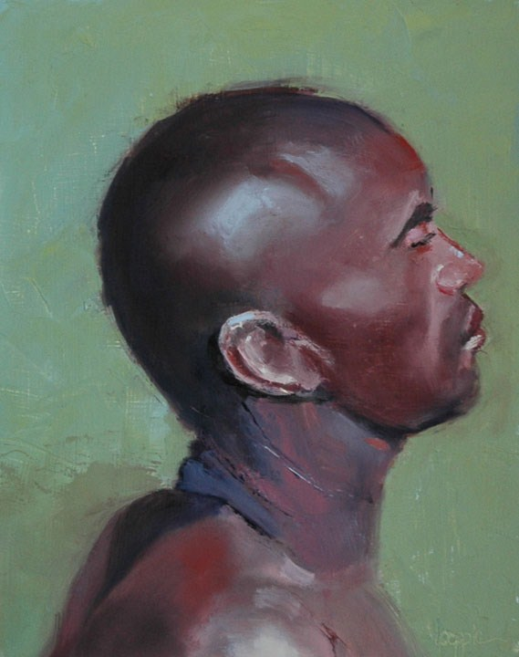 """""""FACE No. 84"""" original fine art by Linda Popple"""
