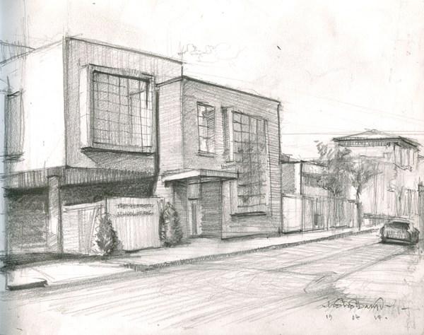 """Heatherley's School of Fine Art, Lots Road (8) Chelsea Marathon"" original fine art by Adebanji Alade"