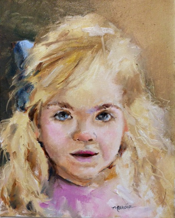 """Meredith"" original fine art by Marcia Hodges"