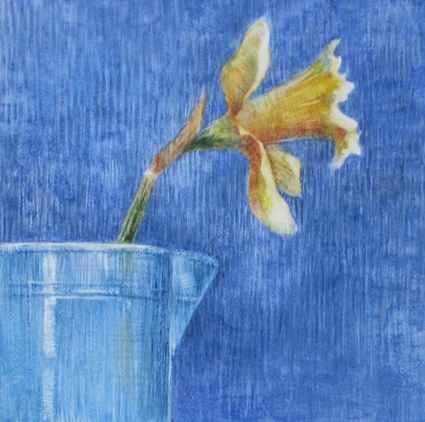 """Yellow and Blue"" original fine art by Ginger Pena"