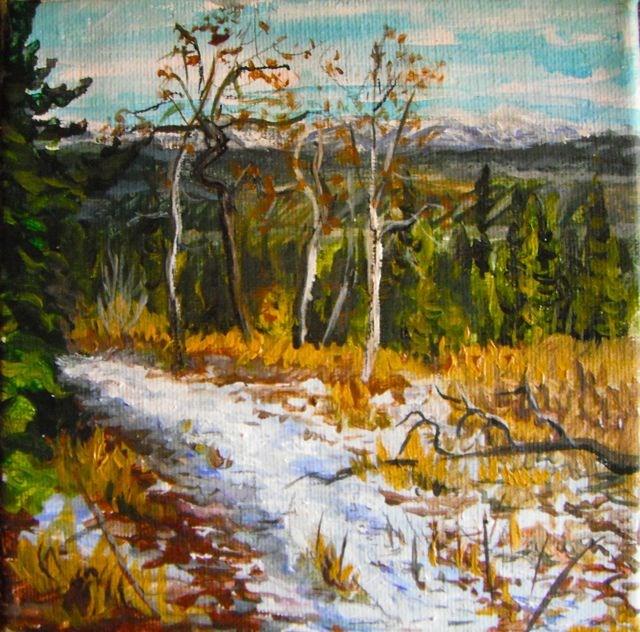 """Hiking along Blind Creek"" original fine art by Jackie Irvine"