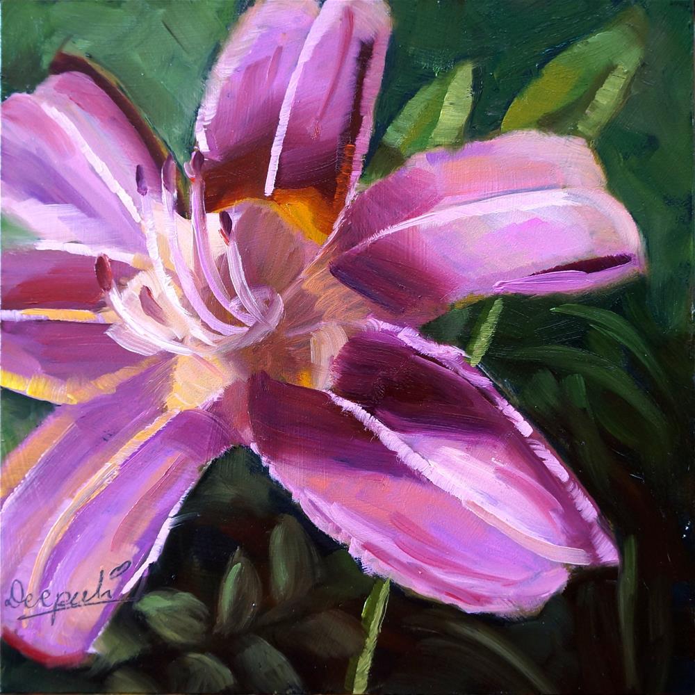 """Pink flower"" original fine art by Dipali Rabadiya"