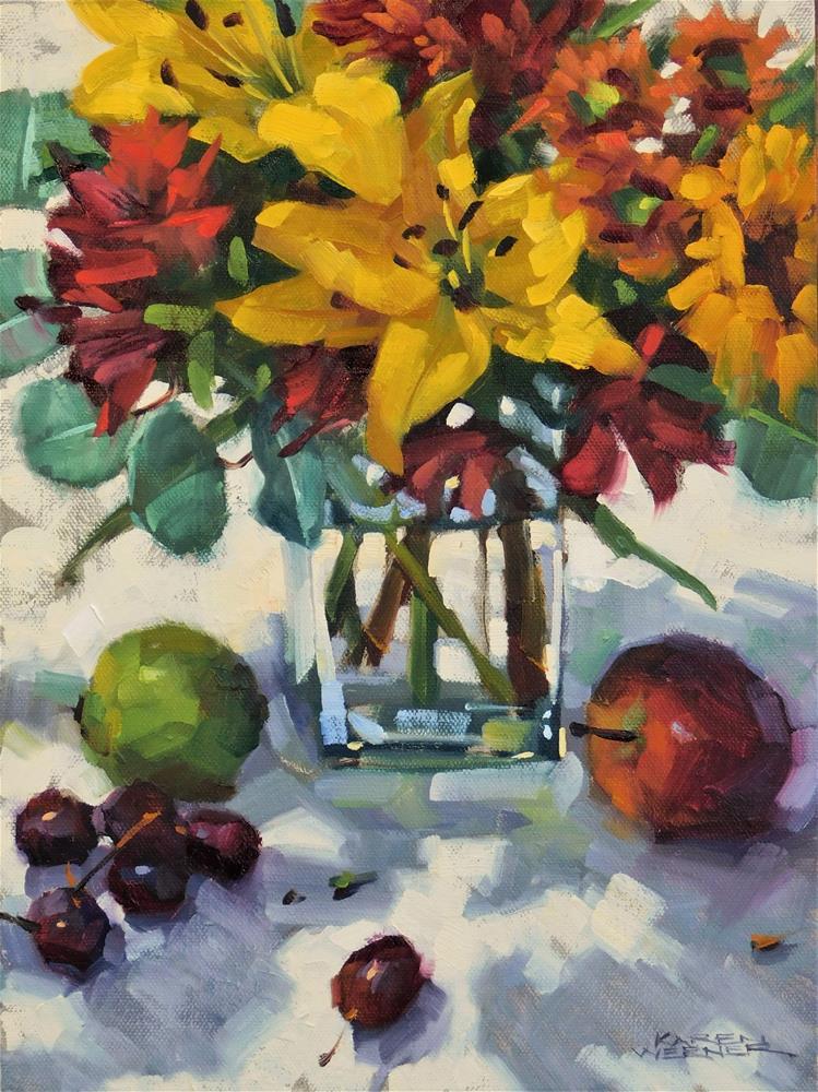 """""""Autumn Lillies"""" original fine art by Karen Werner"""