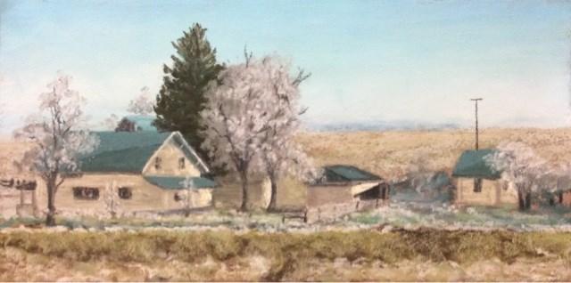 """""""HOAR FROST IN THE MORNING"""" original fine art by Marti Walker"""