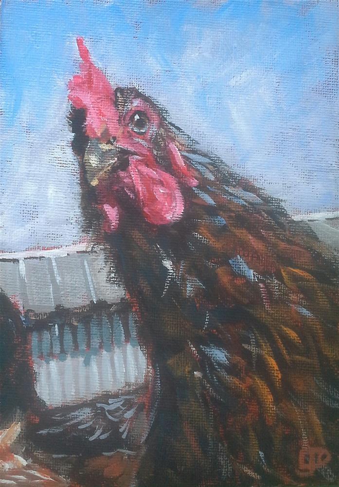 """""""Yes, It's Me!"""" original fine art by Leanne Owen"""