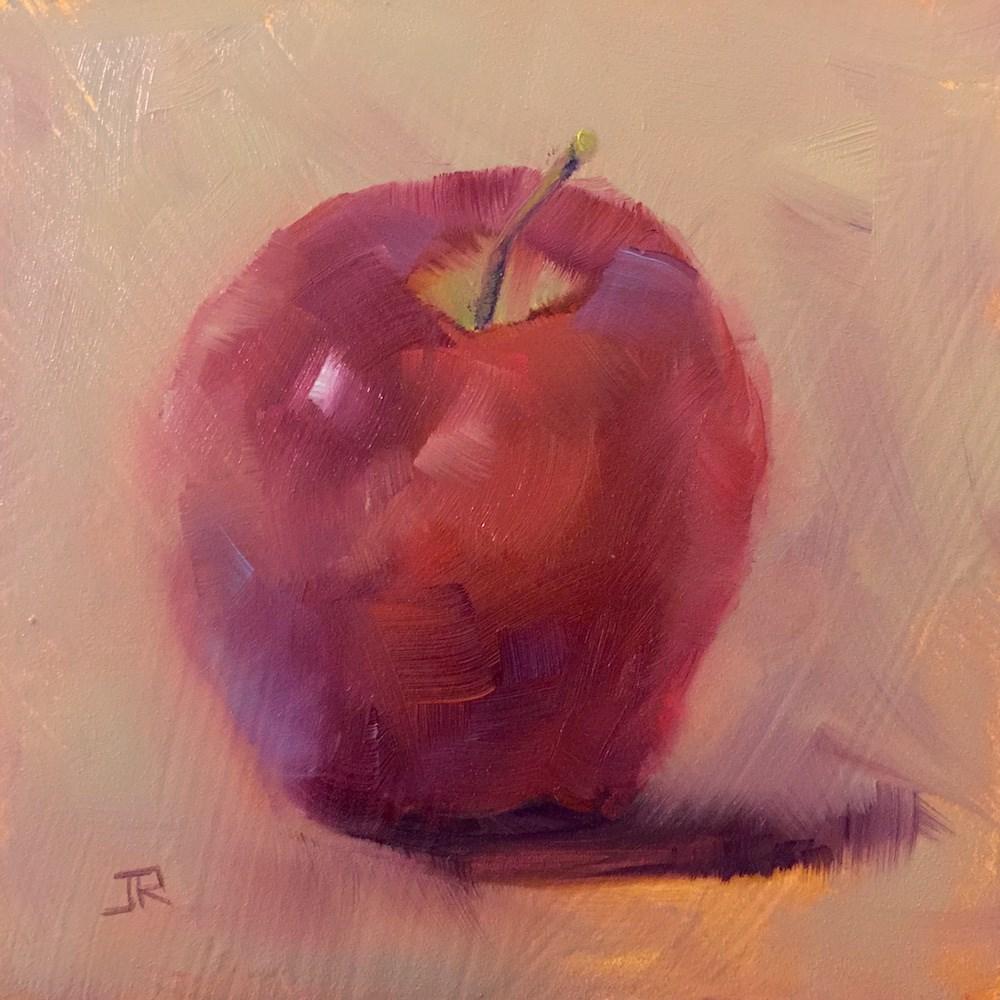 """""""Apple Of My Eye"""" original fine art by June Rollins"""