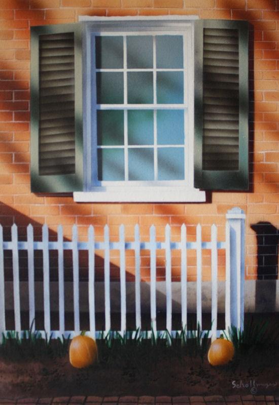 """""""Indian Summer Window"""" original fine art by Fred Schollmeyer"""