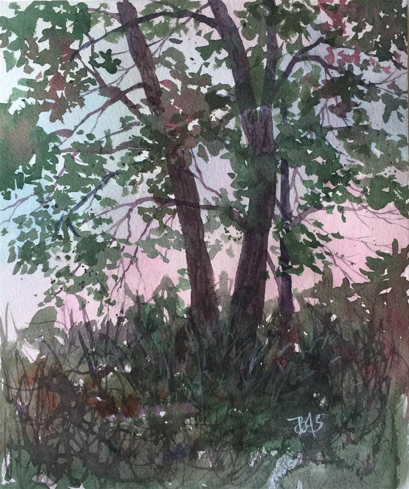 """""""Twilight View"""" original fine art by Barbara Scheihing"""