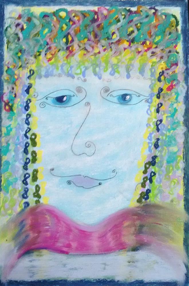 """""""Square Hair"""" original fine art by Adéla Svobodová"""