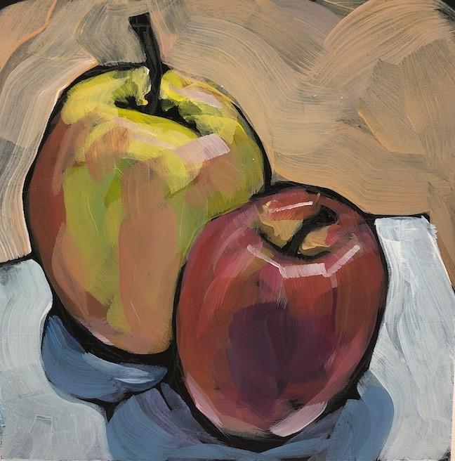 """Apple Chums"" original fine art by Kat Corrigan"