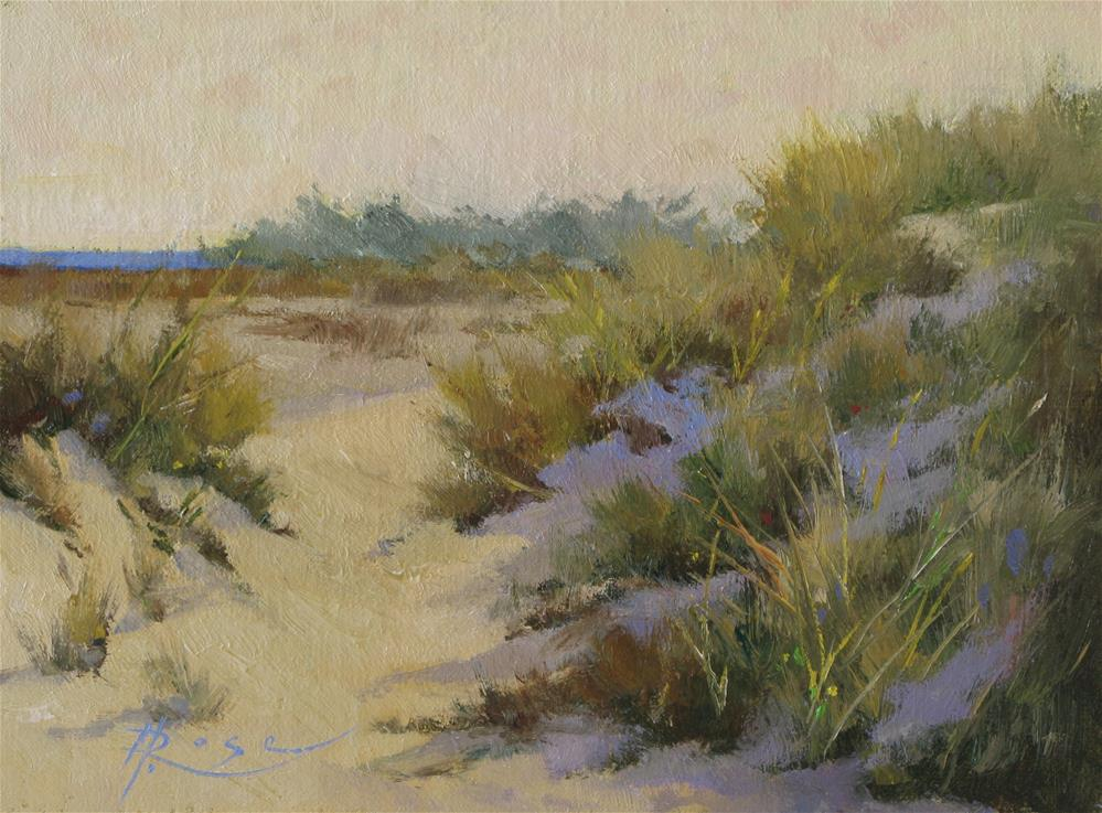 """Jones Beach Dune"" original fine art by Howard Rose"