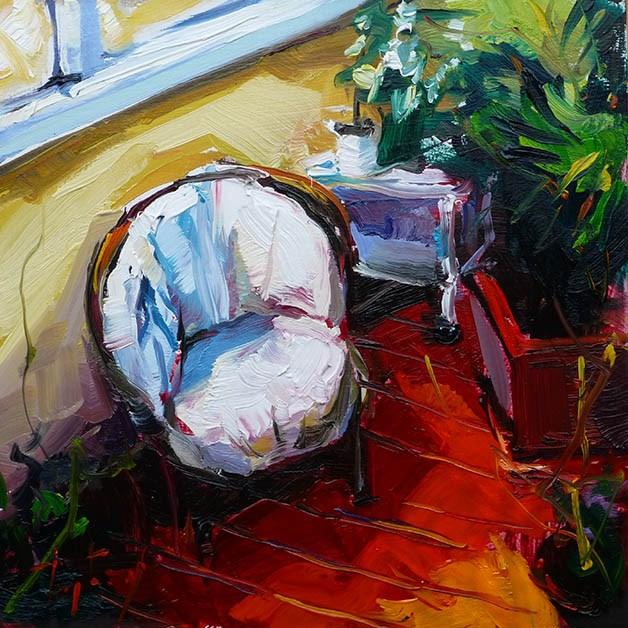 """""""Im Wintergarten"""" original fine art by Jurij Frey"""