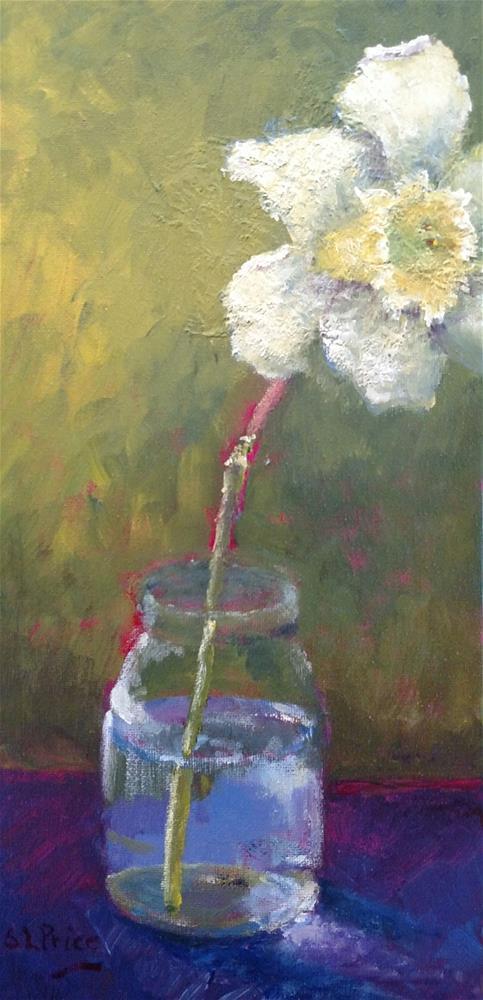 """""""Shy Daffodil"""" original fine art by S. Lynne Price"""
