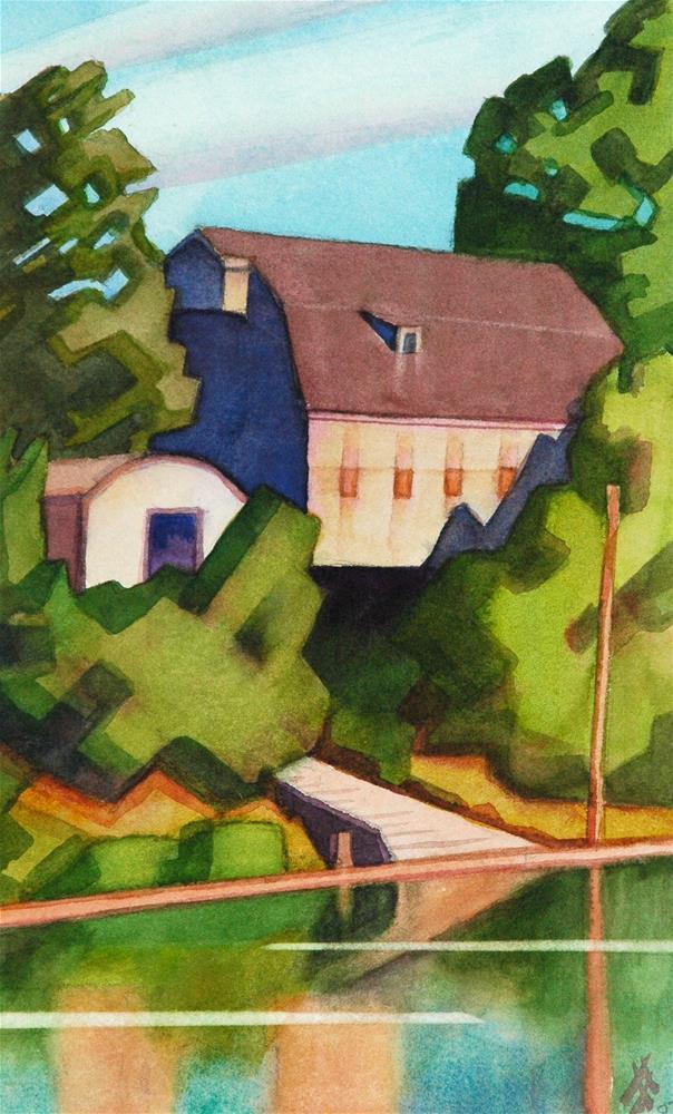 """OSU Boat House"" original fine art by Mark Allison"