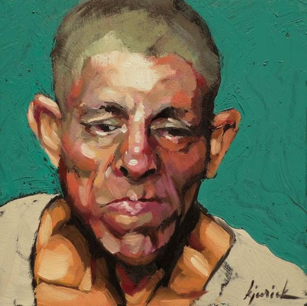 """200 Faces, No. 111"" original fine art by Karin Jurick"