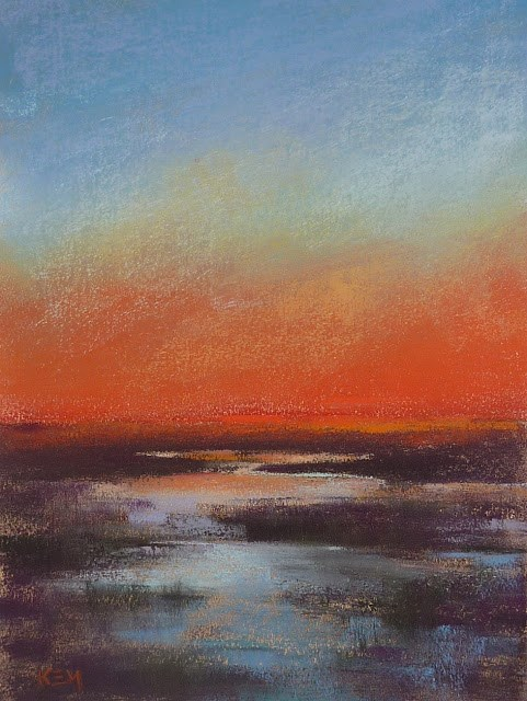 """Tips for Painting a Sunset"" original fine art by Karen Margulis"