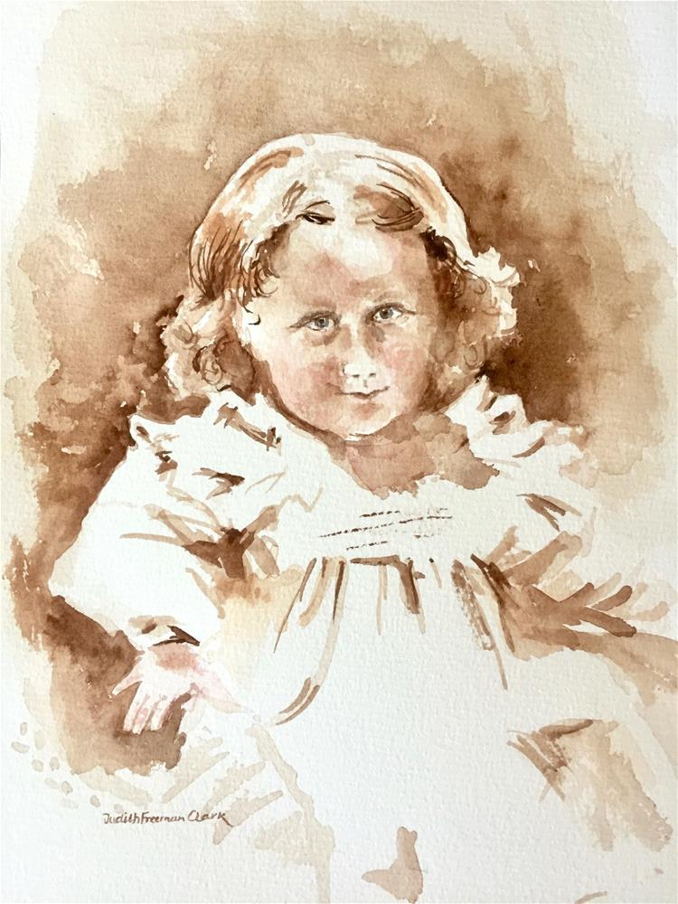 """Frances, ca. 1901"" original fine art by Judith Freeman Clark"