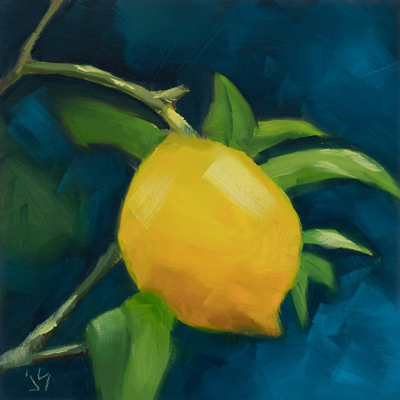 """Orange is the New Lemon"" original fine art by Johnna Schelling"