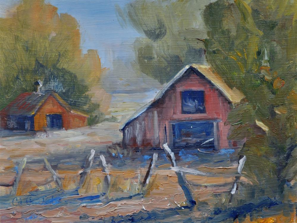 """Old Barn"" original fine art by Catherine Crookston"