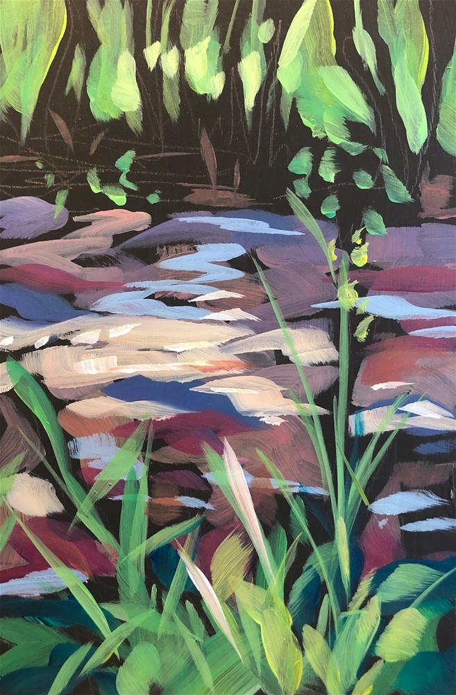 """Creek Weeds"" original fine art by Kat Corrigan"