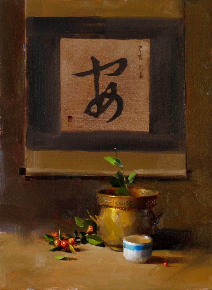"""""""Peaceful"""" original fine art by Qiang Huang"""