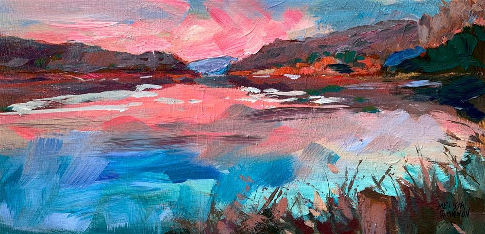 """Sunset Impressions"" original fine art by Melissa Gannon"