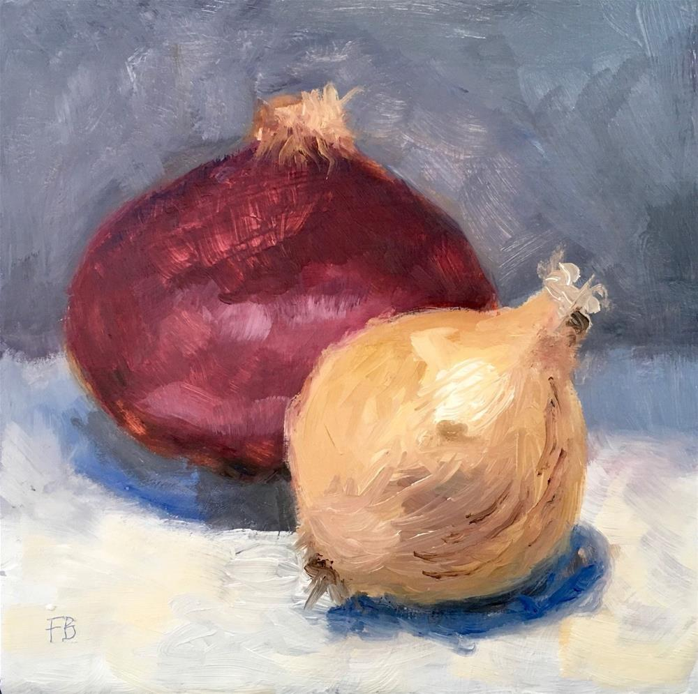 """Mouse over image to zoom 033-Painting-a-Day-Ritual-Yellow-Red-Onions-Fred-Bell-6x6-Free-Shipping  033-Painting-a-Day-Ritual-Yellow-Red-Onions-Fred-Bell-6x6-Free-Shipping Have one to sell? Sell now 033"" original fine art by Fred Bell"