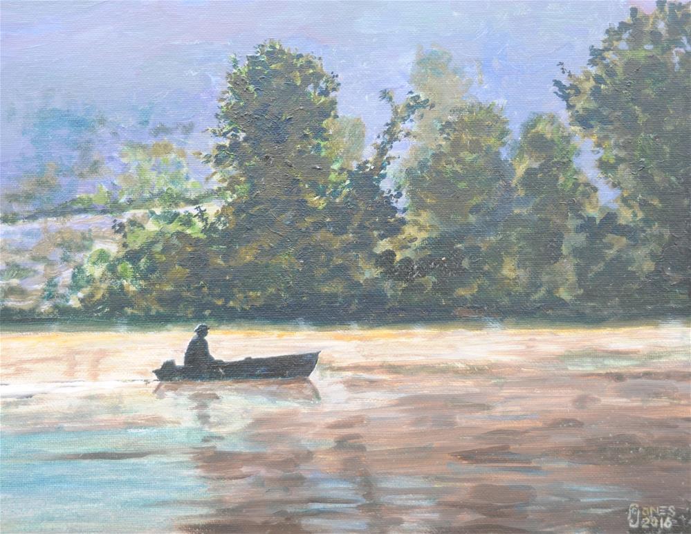 """""""Little Boat"""" original fine art by Fred Jones"""