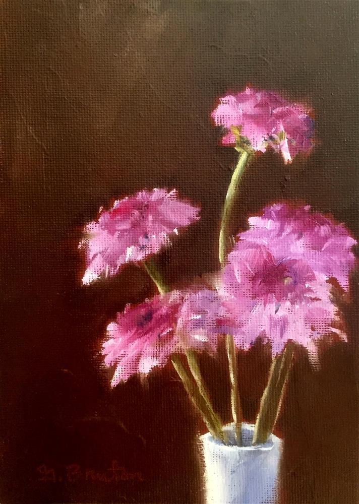 """Purple Poms"" original fine art by Gary Bruton"
