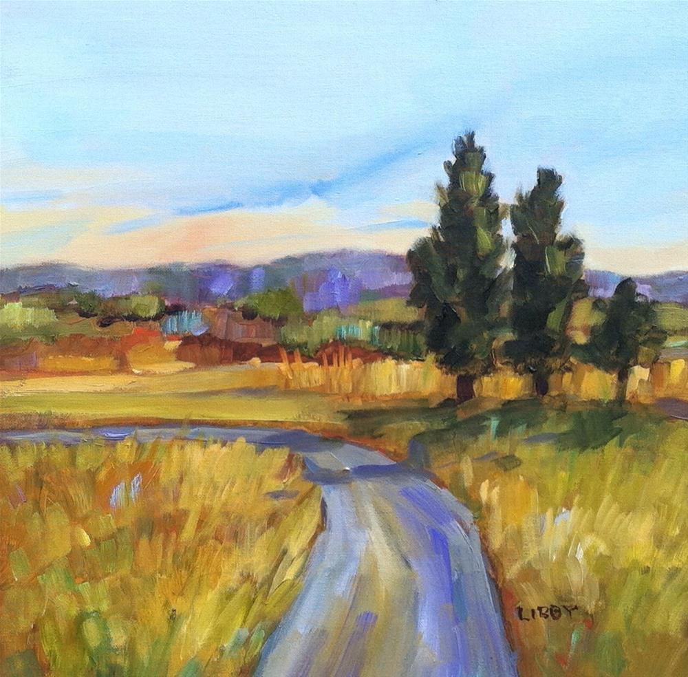 """Road to Florence"" original fine art by Libby Anderson"