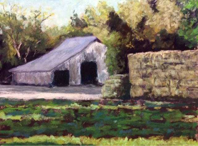 """THE HAY BARN"" original fine art by Marti Walker"