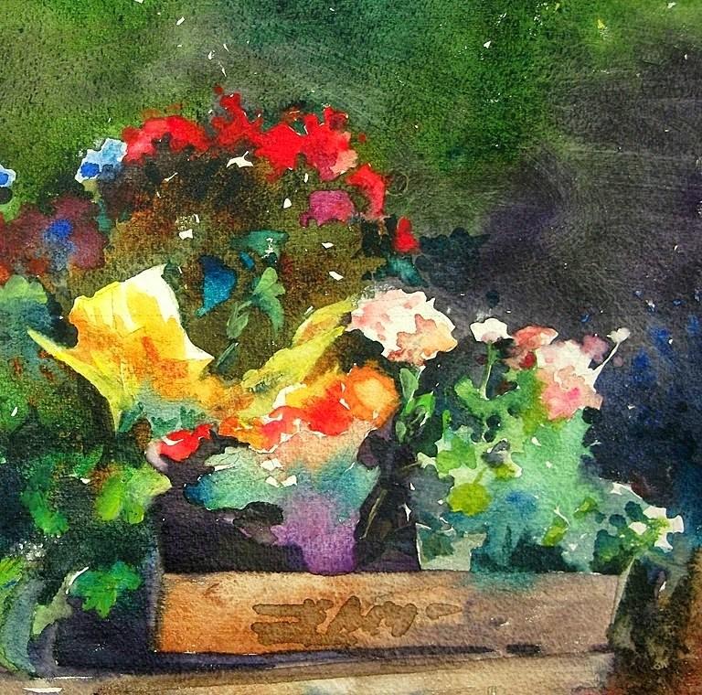 """Summer Color"" original fine art by Mary Maxam"