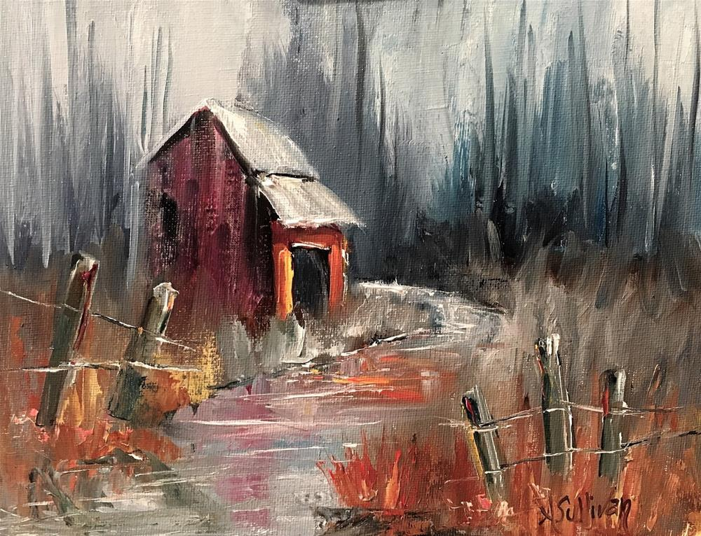 """When The Air Is Cool landscape painting by Alabama Artist Angela Sullivan"" original fine art by Angela Sullivan"