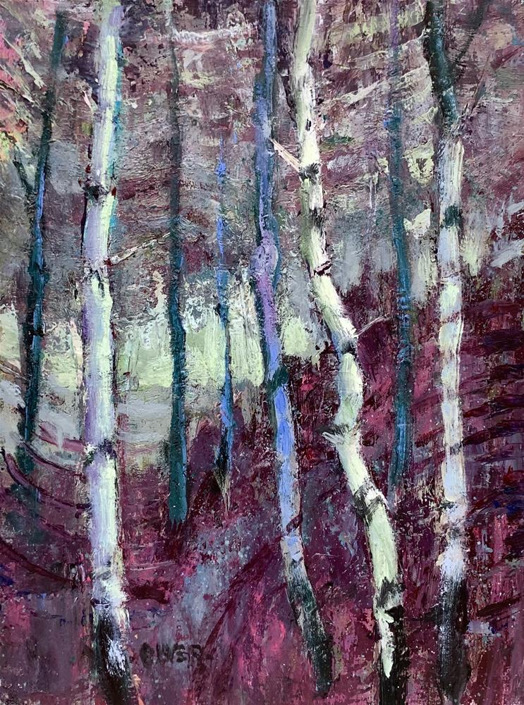 """Cloudcroft, Aspens, NM."" original fine art by Julie Ford Oliver"