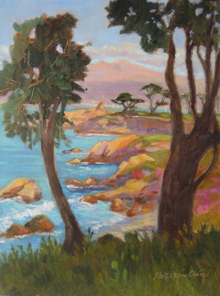 """Lovers Point Between Trees"" original fine art by Rhett Regina Owings"