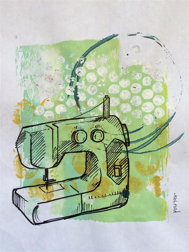 """Sewing Maching Print"" original fine art by Teddi Parker"